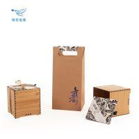 年货茶叶包装礼盒竹盒高档创意通用礼品盒红茶大红袍包装盒定制