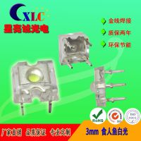 3MM食人鱼白光/F3食人鱼白光 /食人鱼LED灯珠/广告模组车灯专用LED食人鱼