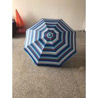 定制条纹沙滩伞、海滩休闲条纹大太阳伞、欧美风情沙滩伞定做工厂