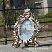 欧式奢华创意复古银色6寸7寸10寸相框写真艺术照相架摆台商务礼品