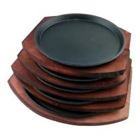 铁板圆形铁板烧牛排铁板 烧烤盘煎肉烧烤铁板盘家用餐厅用铁板烧