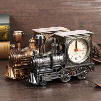 欧式怀旧复古火车头闹钟 批发时尚个性塑胶模型闹钟 创意家居礼品