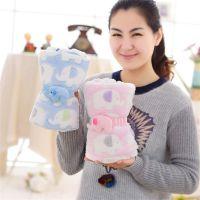 卡通小象毛绒玩具卷毯 车载空调毯宝宝小盖毯儿童礼品礼物 定制