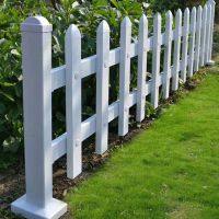 塑钢草坪护栏价格 庭院围墙栏杆 园艺绿化护栏