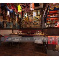 郑州日式餐厅装修设计案例|孤独的美食家日料店设计效果图