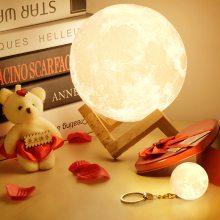 网红浪漫ins创意月亮月球LED小夜灯男孩女孩生日礼物装饰卧室床头
