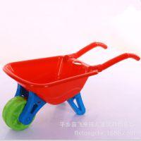 沙滩独轮双轮小推车儿童玩具85cm带铲子小孩玩雪工具手推车