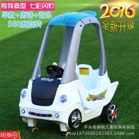 派克奇儿童电动小房车遥控四轮婴儿推车可手推 可遥控带早教功能