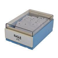 益而高818名片盒 大小容量塑料明片盒 分类收纳卡牌盒 名片箱
