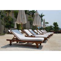 广州品木供应北京高端酒店泳池躺椅 室外别墅泳池躺椅