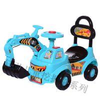 大号儿童挖掘机工程车四轮滑行车玩具车奶粉赠品车适合男女宝宝