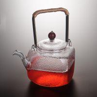 尚鑫纯手工日式锤纹耐热提梁玻璃壶泡茶壶 电陶炉专用烧水煮茶壶