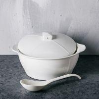 纯白餐具白色碗盘子碟套装家用清新陶瓷餐具方碗盘日中式简约