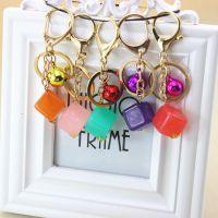 铃铛方形钥匙扣女创意可爱女孩包包挂件吊坠饰品小礼品厂家批发