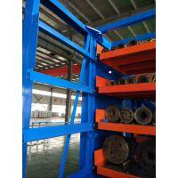 北京钢材存放架 抽屉式板材货架价格 型材库专用货架定制