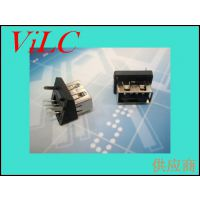 AF20度-短体10.0-斜110度USB母座/双柱双脚固定DIP=吸塑盘装