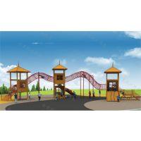 户外景区树屋滑梯 大型木质爬网滑梯 非标拓展乐园设施 造型不锈钢滑梯 北京同兴伟业直销定制