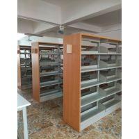 钢制图书架厂家直销 中小学图书馆书架 钢木结合书架定做批发