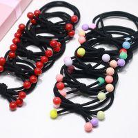 淘宝赠品三合一樱桃发绳红豆彩豆发绳套装发饰品橡皮筋头饰品发夹