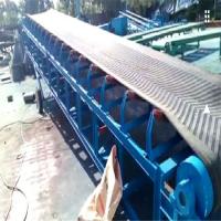 加挡板的皮带机 滚筒式工业用大倾角输送机南通