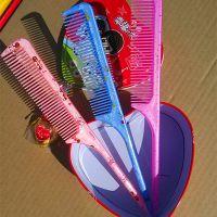 印花长尖梳子 可爱卡通女生专用口袋梳子 美发工具 畅销1元货源