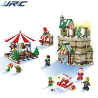 JJRC 拼插积木益智儿童玩具圣诞节送礼品小颗粒塑料拼接圣诞老人