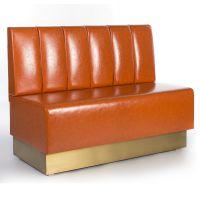 悦方现代定制红色皮革木质夜总会座位,餐厅俱乐部家具沙发餐厅展位