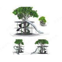 北京同兴伟业直销公园景区304不锈钢滑梯 儿童滑梯厂家 小型滑梯游乐场所 木质拓展训练