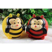 PVC蜜蜂 搪胶蜜蜂加工 搪胶公仔定制生产 深圳搪胶玩具加工厂