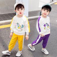 新款网店代理女童秋装 两件套童韩版卫衣 女童秋季长袖卡通童卫衣