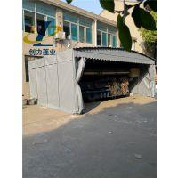 济南推拉雨棚厂家,可以活动雨蓬, 镀锌钢材骨架不生锈布