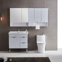 浴室柜实木 简约现代洗手台 卫浴柜一体 卫生间洗脸盆组合 洗手盆 卫浴柜
