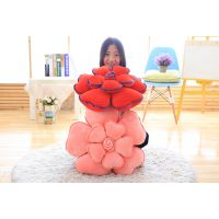 羽绒棉软体玫瑰花坐垫花朵抱枕靠垫情人节求爱礼物婚庆拍照道具