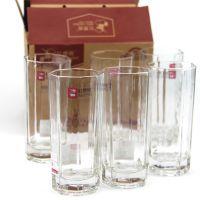 高八角玻璃水杯套装 玻璃杯  9.9元店10元日用百货店货源