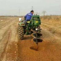 安徽大型车载式挖坑机 圣鲁四轮后驱打坑机