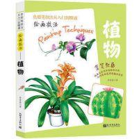 正版 绘画技法—植物 彩铅画入门教程书彩铅入门手绘插画教程q