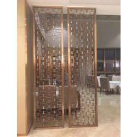 广州国际大酒店精品红古铜无缝焊接工艺电镀不锈钢花格屏风镂空