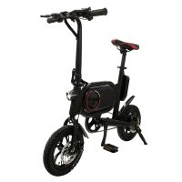 爱路卡登厂家直销小型折叠电动助力脚踏车 智能电动代步自行车
