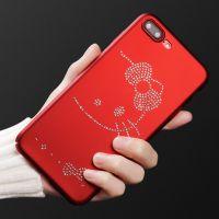厂家直销苹果iPhoneX手机壳新款8G防摔保护套7Plus水钻PC磨砂硬壳