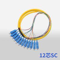 SC大方头电信级12芯单模束状尾纤集成尾纤