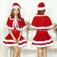 2017新款圣诞节演出服 圣诞服成人女演出服 圣诞服装 圣诞衣服女