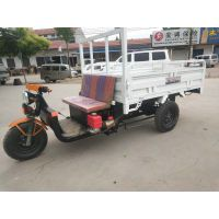 小型载货电动三轮车 建筑工地拉货运输三轮车 农场用自卸小工程三轮车直销
