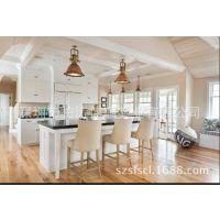 质量可靠的 双色面板橱柜 简单大方的居家厨柜