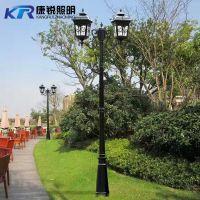 欧式路灯庭院草坪灯防水灯户外灯景观公园别墅小区双头3米高杆灯