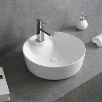 洗漱间圆形单孔陶瓷台上盆卫浴艺术盆