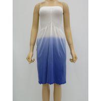 女装性感露背抹胸裙,中款撞色时尚连衣裙