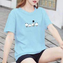 一手货源供应韩版T恤批发 北京哪里有便宜的夏季男女T恤批发 外贸杂款短袖处理货源
