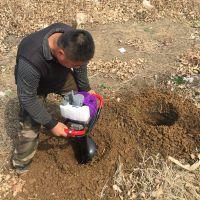 山地挖坑机价格 手持轻便挖坑机视频 富民牌