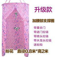 防水浴帘创意洗澡浴室淋浴房简易塑料弧形圆形浴帘直杆布料折叠