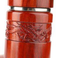 红木雕刻水杯 木质真空不锈钢保温杯子男士高档商务手杯茶具定制